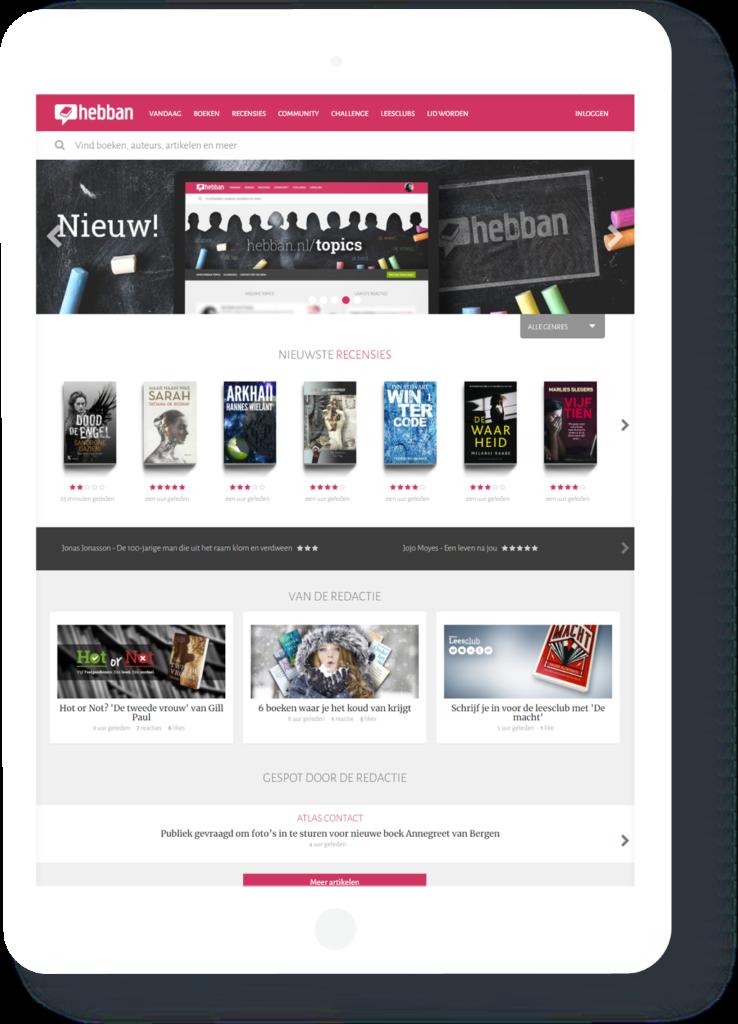 Hebban homepage